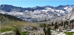 Kaweah peaks ridge