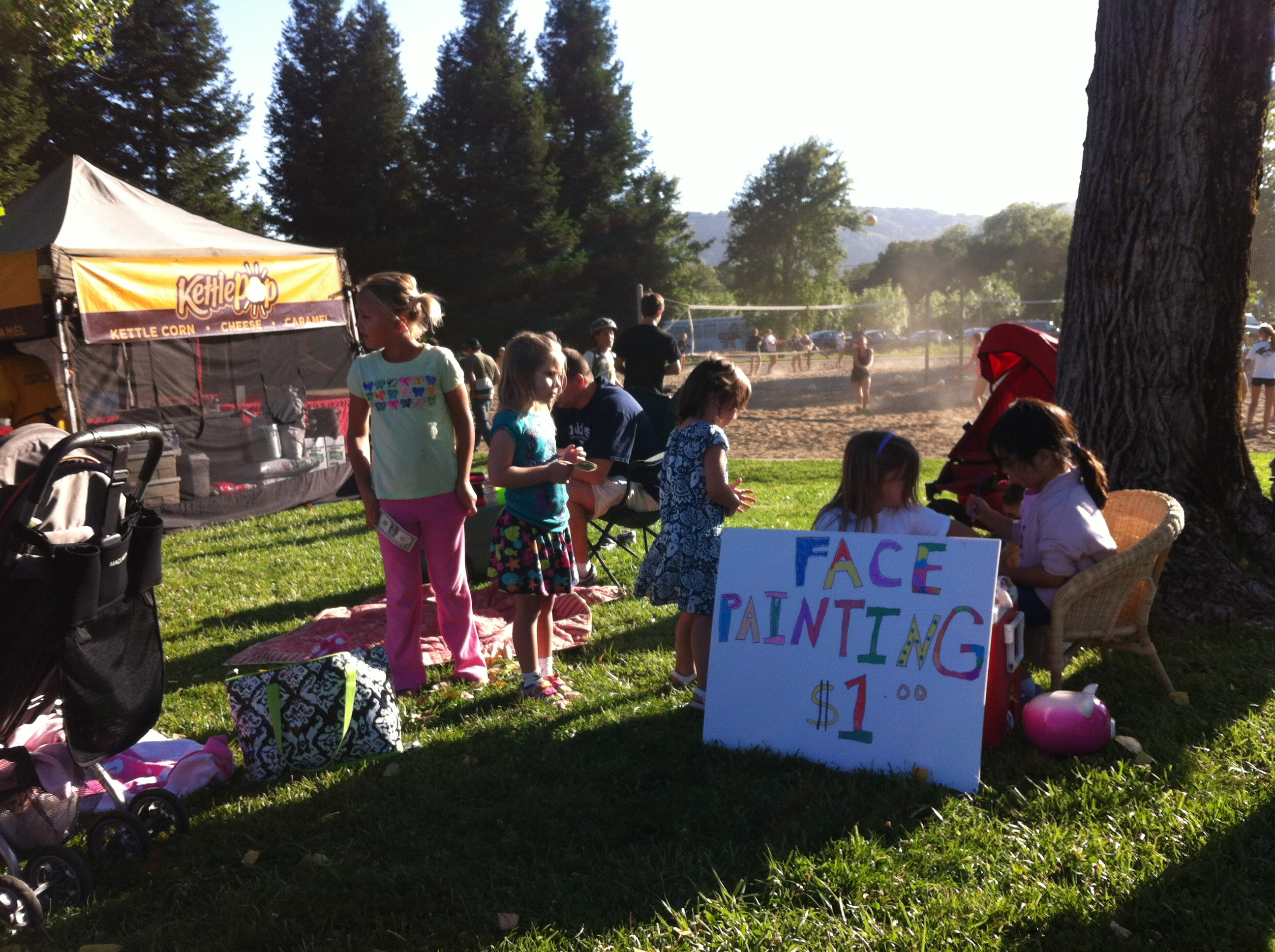 face painting to raise money for disneyland