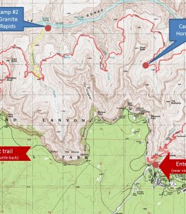 picture-of-grand-canyon-3-day-backpacking-route
