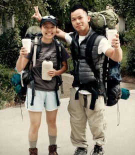 backkpacking friends on the way to Mt. Whitney