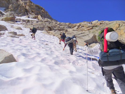 Hiking Colby Pass - Trans-Sierra Xtreme Challenge - Mt. Whitney Hike