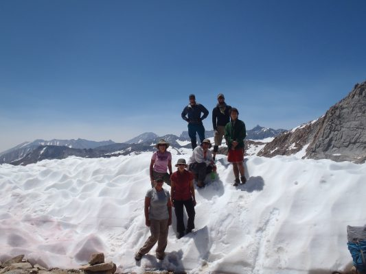 Standing on Colby Pass - Trans-Sierra Xtreme Challenge - Mt. Whitney Hike