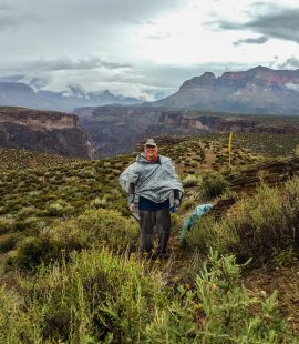 Grand Canyon Hiker on Tonto Trail