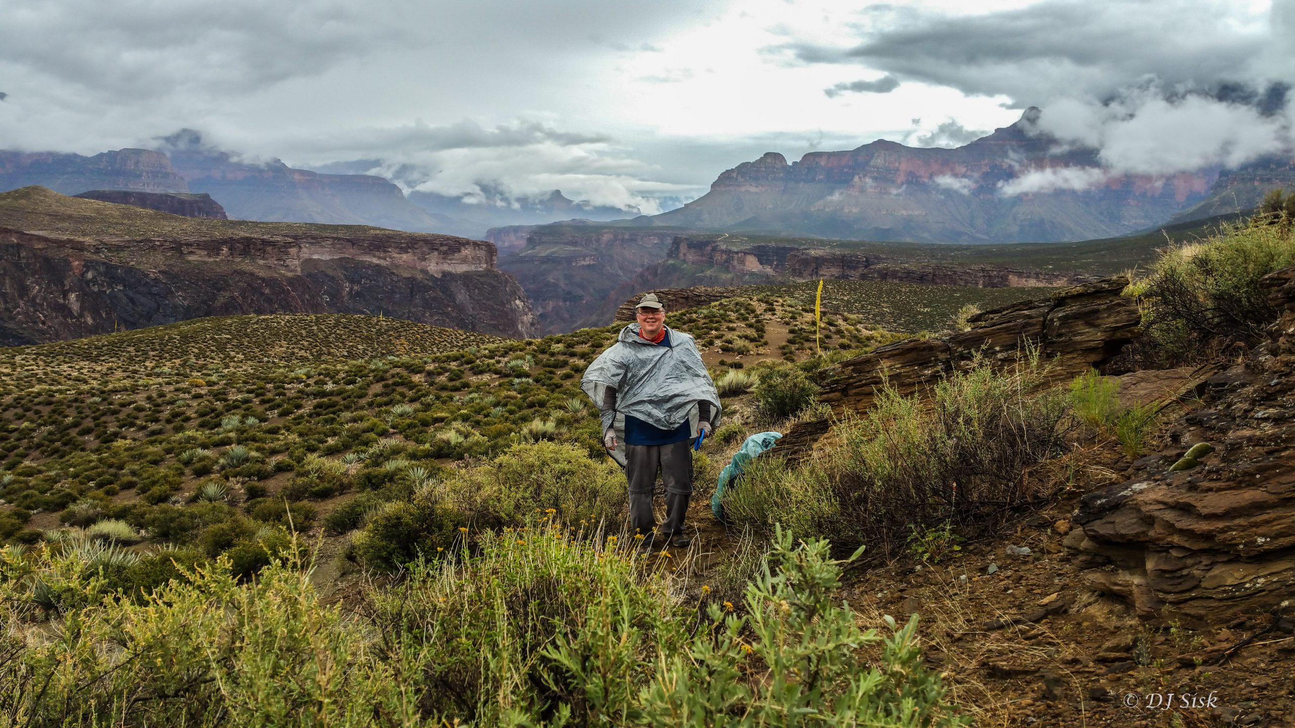 Grand Canyon Hiker on Tonto Trail