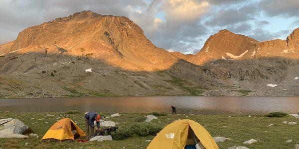 camping at mt goddard and martha lake