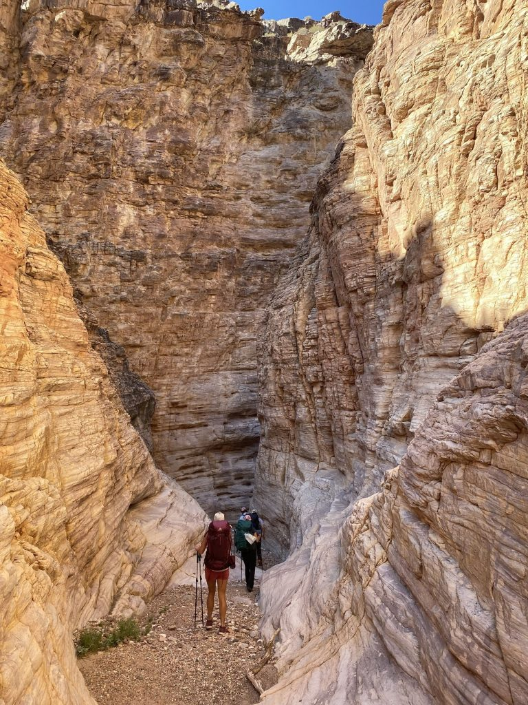 Hiking down 75-Mile Creek on the Escalante Route