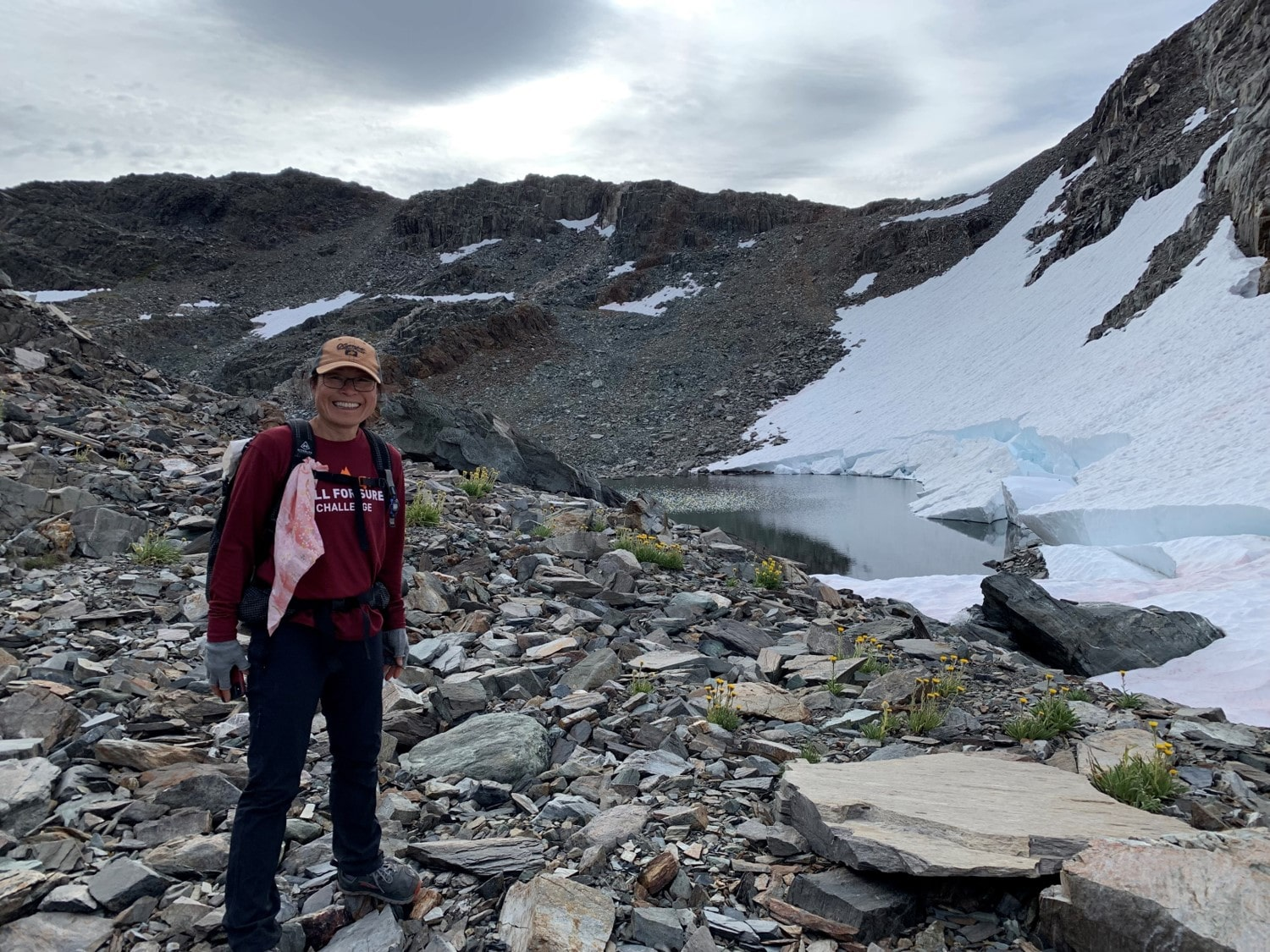 2019 - Mt. Goddard, September hike with breaking glacier in view